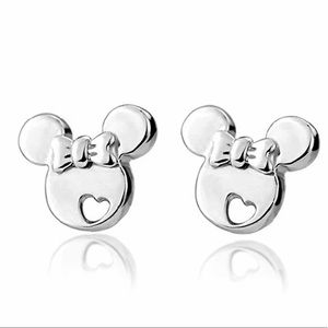 Minnie Mouse w/Heart Sterling Silver Earrings Baby